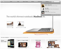 Apple Home Page Search