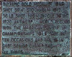 Pat McDonnell Monument 4 (Kman999) Tags: ireland sculpture monument plaque athletics clare olympics doonbeg shotputt patmcdonnell