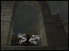 darkness (Kracht Strom) Tags: art photography fly 3d screenshot wings magic sl fantasy secondlife capture untouched fairys strom wl windlight kracht seconlife slwindlight secondlifewindlight viritual krachtstrom viritualworld purewindlight