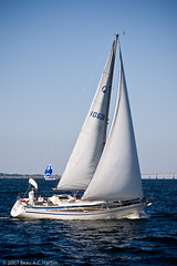 Two sailboats on the Chesapeake Bay (BACHarbin) Tags: usa motion wet water sailboat bay md waves sailing personal action yacht bridges fast photoblog website baybridge boating sail swift mast annapolis sailboats quick runningwater watercraft chesapeakebay yachting williamprestonlanejrmemorialbridge chesapeakebaybridge sailcloth woodwindcruise submittedtophotoshelter