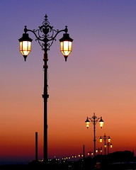 Street lights at sunset, Southsea (pompey shoes) Tags: light sunset lamp wow streetlight 100v10f hampshire promenade portsmouth thumbsup southsea pompey twothumbsup hants bigmomma cotcmostfavorited 3wayicon youvsthebest 15challengeswinner ilovemypic photofaceoffwinner photofaceoffplatinum thechallengegame challengegamewinner photofaceoffchampion lumixaward pfogold friendlychallenges may08pfobrackets tmoacawardwinner herowinner ultraherowinner thepinnaclehof ispysweepwinner ispyhattrickchallengewinner
