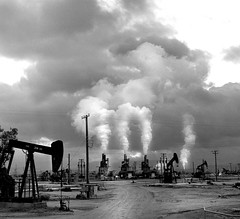 Petroleum Landscape,  California (Dizzy Atmosphere) Tags: oil petroleum kerncounty californiaroute33 lakeviewgusher