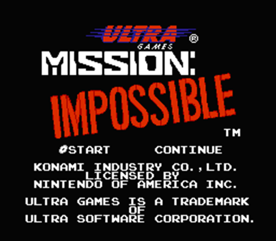 mission impossible game. Mission: Impossible was