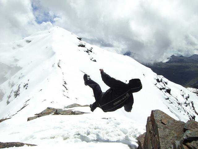 caindo do céu, monte chacaltaya, bolivia