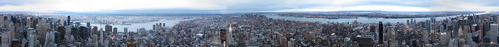 Manhattan 360 panorama from Empire State