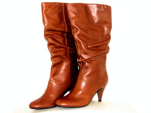 brown high heel boots