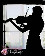 Silhouette (Ule (Photography By)) Tags: window senior silhouette instrument string viola ule