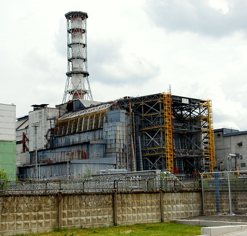 フリー写真素材, 建築・建造物, 廃墟, 工場・産業機械, 事件・事故, チェルノブイリ原子力発電所, 発電所, 原子力発電所, 放射能, ウクライナ,