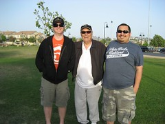 James and Tim with Al, their T'ai Chi Chih instructor. (05/21/08)