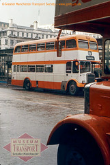 Titans in the rain, Piccadilly bus station (Museum of Transport Greater Manchester archive) Tags: museum transport cheetham manchester wwwgmtscouk gmts bus buses museumoftransport gmtscollection greatermanchestertransportsociety boylestreet cheethamhill m88uw leyland titan pd2 pd3 eastlancs stockport corporation selnec gmt gmpte greatermanchestertransport piccadilly piccadillygardens busstation 5894 mja894g rain