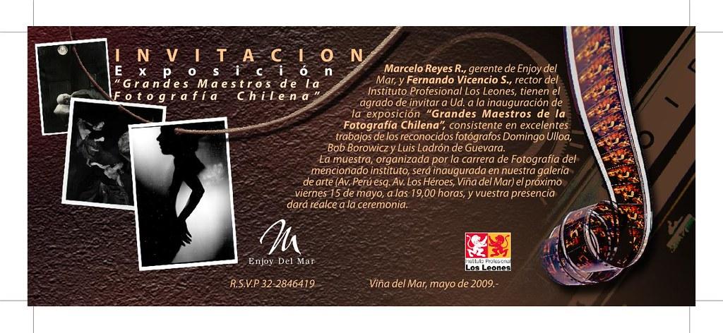 invitacion Maestros fotografia