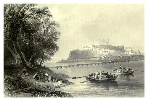 026- Presburg- Bratislava en la actual Eslovaquia con el castillo al fondo 1844