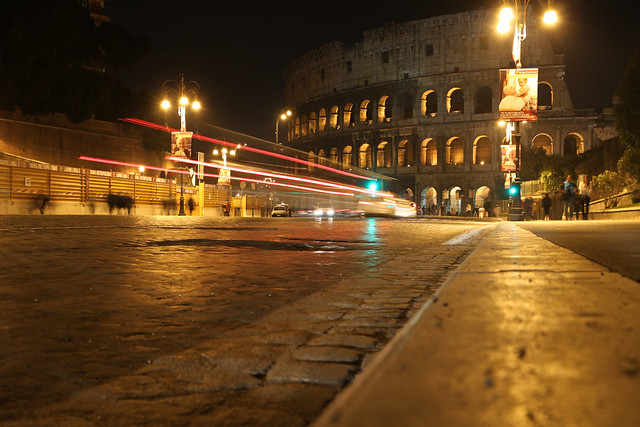 Rome. Street lights