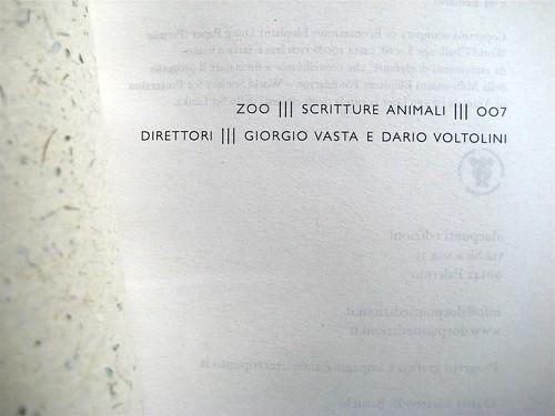 Matteo B. Bianchi, Gatta gatta, :duepunti edizioni 2011; progetto grafico e impaginazione di .:terzopunto; p. dell'occhietto (part.), 1