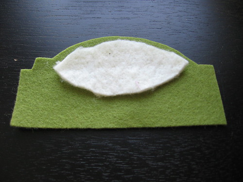 Felt Peapod Tutorial Step 1