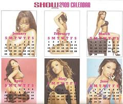 show magazine calendar2