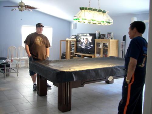 pool table side