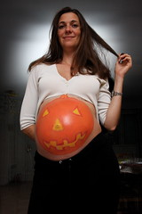 The Halloween pumpkin belly (koalie) Tags: halloween pregnancy makeup pregnant bodypainting 37wks koalie coralie byvv06 byvlad