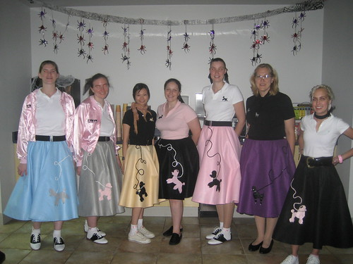 The Ladies And Our Home Made Poodle Skirts