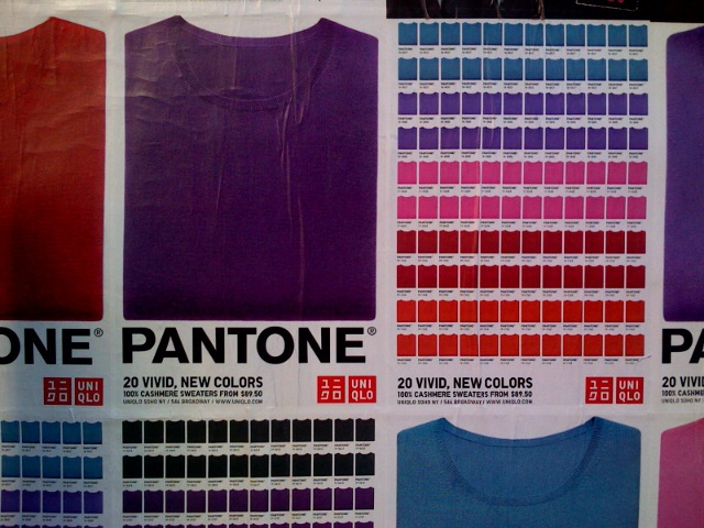 Pantone and Uniqlo brought to you by Helvetica