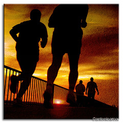 RunningAfterYou. (AntonioArcos aka fotonstudio) Tags: bridge light sunset espaa luz puente evening andaluca spain bravo huelva silhouettes textures runners corrales siluetas texturas tarde fantastica corredores magicdonkey xoxoxoxox artlibre aplusphoto fotonstudio flickrplatinum antonioarcos colourartaward sweetdreamsmyfriend