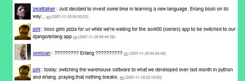 jens on erlang