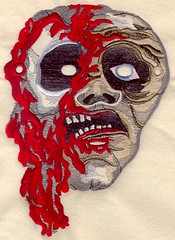 Halloween mask embroidery