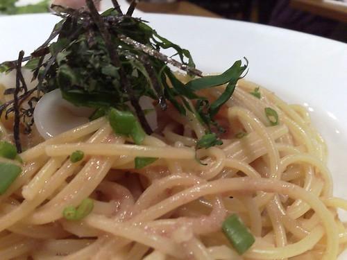 Tarako to ika to shiso supagetti
