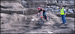 Blackpool Moon Rock's (Hey nadders) Tags: girl bike national round nadine rider blackpool trials monty staniforth cleanbikes trialsqueens trialsqueen
