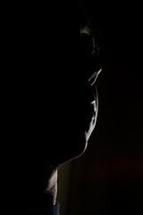 right profile (3/4) (r.i.c.h.) Tags: light people me dark faces profiles rimlight