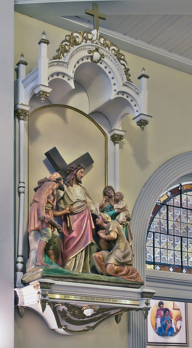 Saints Teresa and Bridget Roman Catholic Church, in Saint Louis, Missouri, USA - Station of the Cross