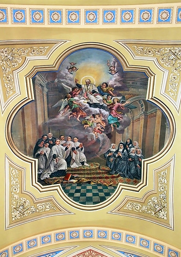 Saint Mary of the Barrens Roman Catholic Church, in Perryville, Missouri, USA - ceiling painting