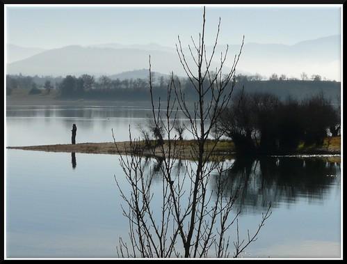 La serenidad reflejada en el agua