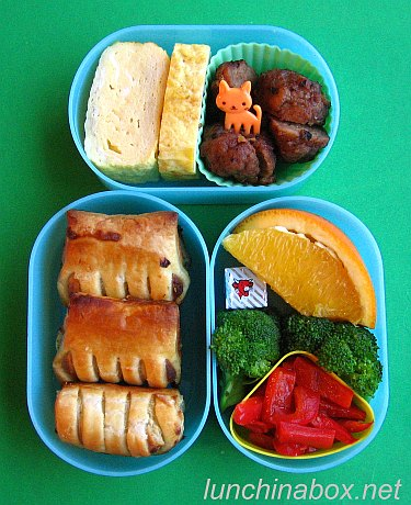 Appetizer pastry bento lunch for preschooler #1