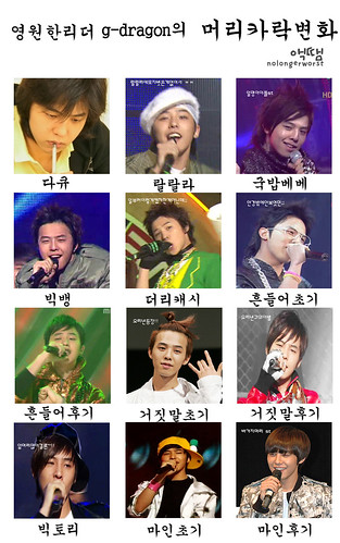 BB Hair Evolution: Which Hairstyle do you like? « BIG BANG Fansite