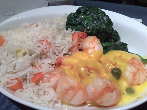Sauteed prawns with caper lemon butter sauce