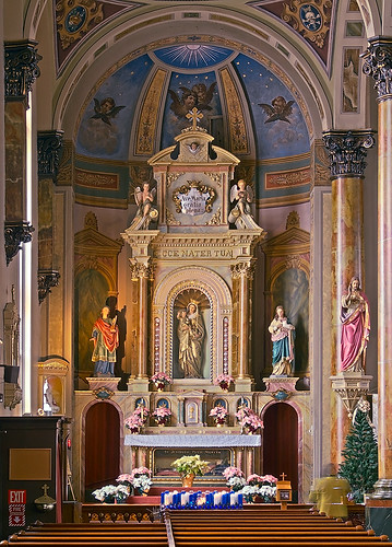 Saint Joseph Shrine, in Saint Louis, Missouri, USA - Mary's altar 2