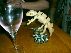 artist's chameleon rides the minitanks