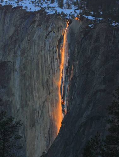 Horsetail Fall (Firefall) in Yosemite by Dale Carlson. Captured February 2008.