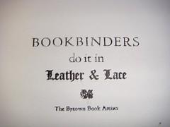 Bookbinders piece