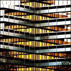 Where gold is made (Maerten Prins) Tags: windows reflection building architecture nijmegen gold office lowlight 300mm notripod gry ilovemynewlens 1on1architecture haskoning 1on1architecturephotooftheweek vrrules 1on1architecturephotooftheweekmarch2008 shotfromdeooijpolder