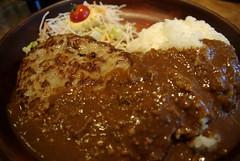 カリーバーグディッシュ(300g)@びっくりドンキー / Curry hamburg steak dish  (by detch*)