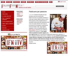 Articolo 2008 su sito: IFN WEBTV Italian Food Net