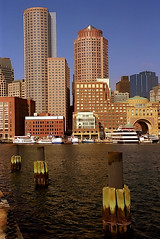 Boston - Financial District from Fan Pier (David Paul Ohmer) Tags: travel sea tourism boston skyline architecture port buildings harbor