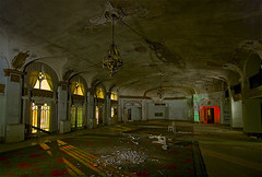Grand Lobby (Noel Kerns) Tags: abandoned night hotel texas baker wells haunted mineral ghosts
