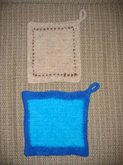 New Blue Potholder (after)
