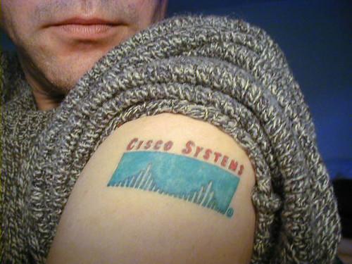 Cisco tattoo. From Flickr user simonov.