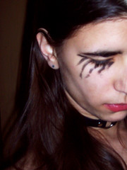 Day 317: Gothic (snogged) Tags: woman selfportrait me self collar 365days blackeyemakeup eoshe