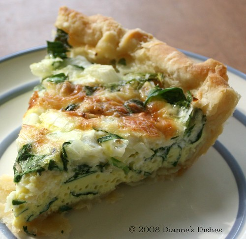 Diannes Dishes: Spinach Gruyère Quiche