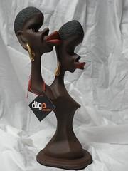 Alma Gêmea Africana. (Digo Pessoa) Tags: bonecas arte afro artesanato imagens decoração gesso pinturas africanas decorativo